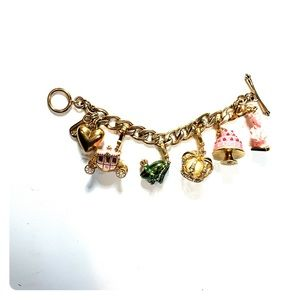 Juicy Couture | Gold Chain Charms Heart Wagon